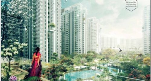 Bhartiya City 2.5 BHK 1265 SQFT ground floor Tower 1 pool facing.