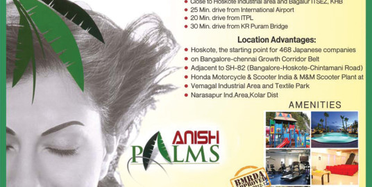 Anish Palms Hoskote