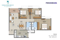 Floor Plan - Purva Palm Beach - E703