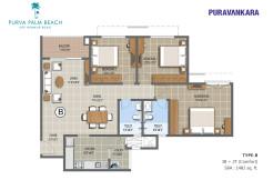 Floor Plan - Purva Palm Beach - E703