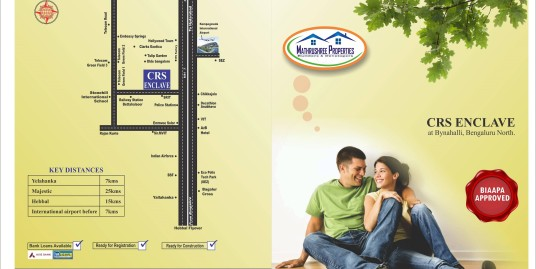 biaapa approved plots / sites on hebbal to airport road bangalore north ( crs enclave)