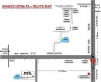 DLF Maiden Heights Route Map