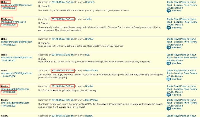 Keerthi Builders Content Manipulation - Influencing buyers