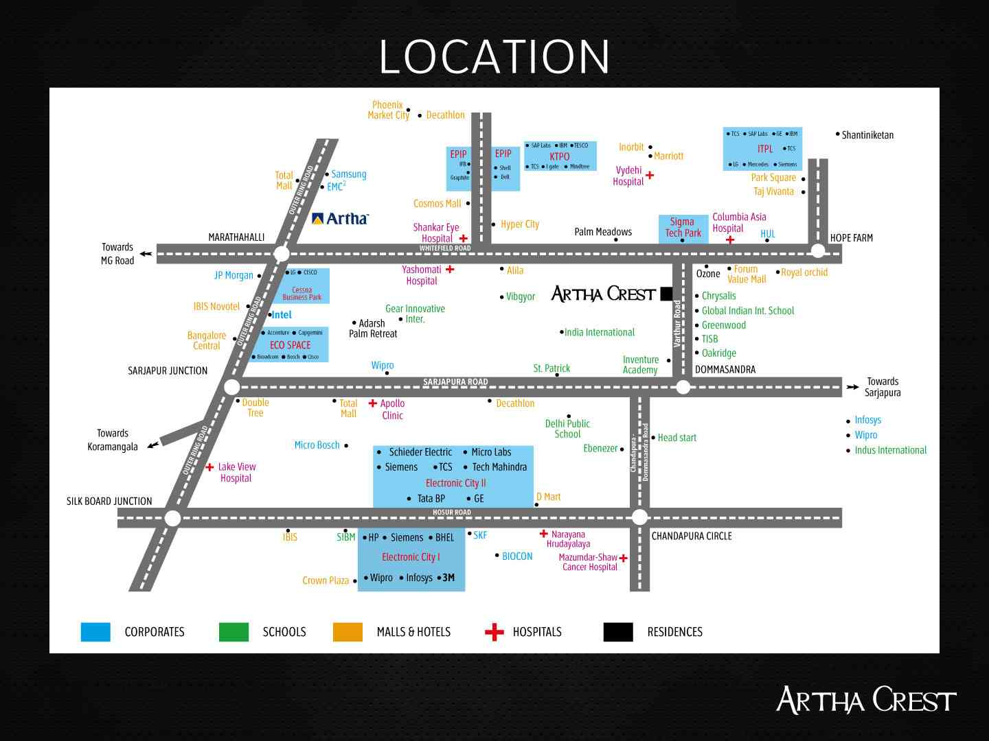 Artha Crest Location Map