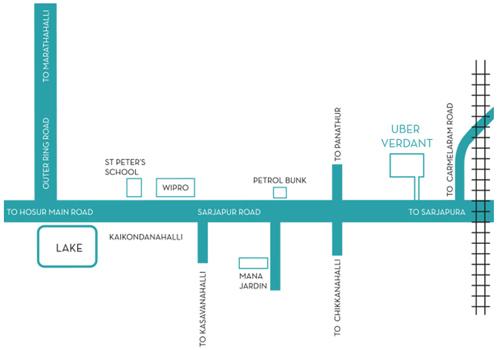uber verdant location map