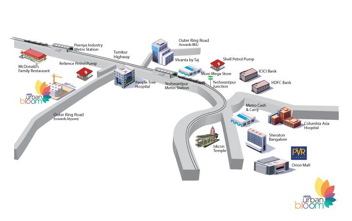 ARGE Urban Bloom Location Map