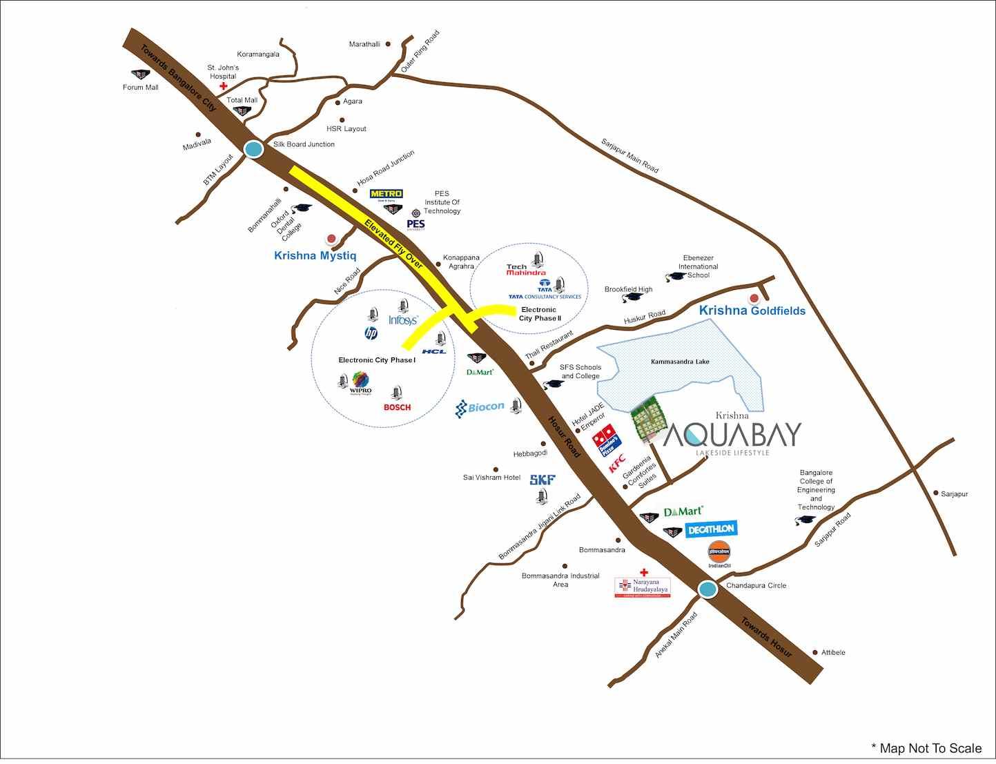 Location Map - Krishna Aquabay