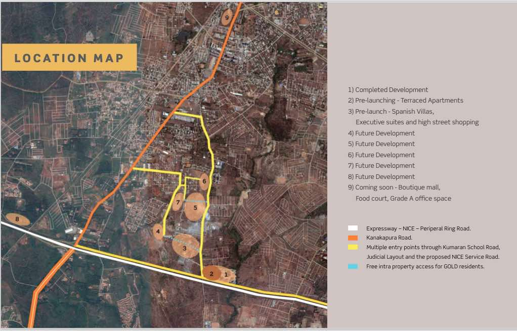 Purva City of Gold Location Map