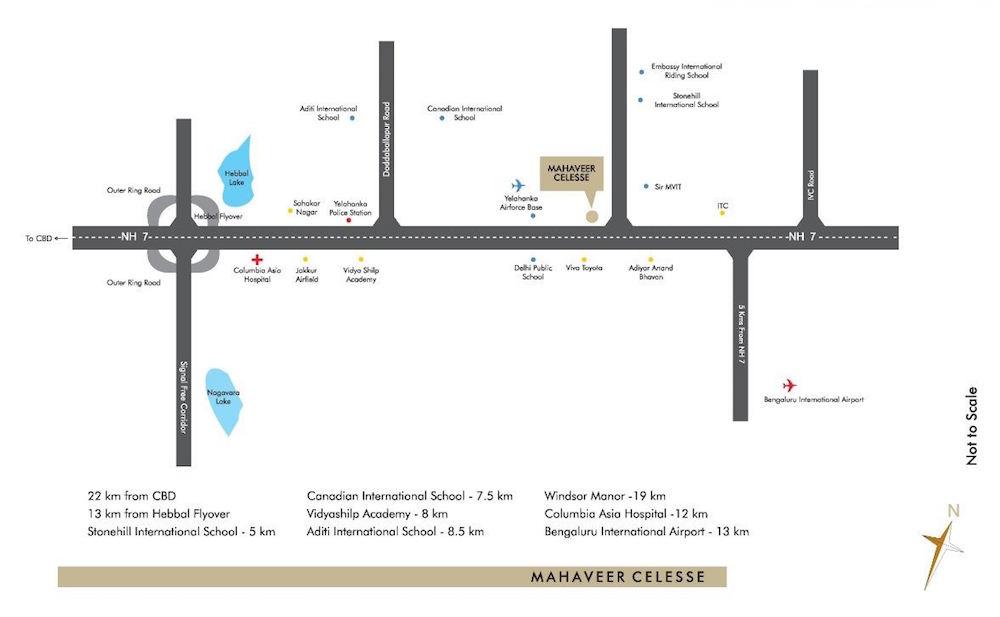 Mahaveer Celesse Location Map