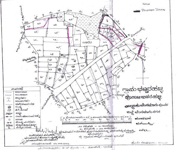 Village Map of Bhattarahalli